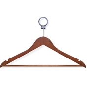Wood Suit Hotel Hanger, Cherry, 24-Pack