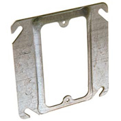 "Hubbell 772 4"" Square Mud-Ring, For 1 Device, Raised 1/2"" - Pkg Qty 100"