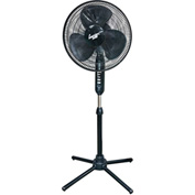 Comfort Zone® CZST161BTEBK Oscillating Pedestal Fan Black 16""