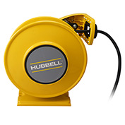 Hubbell GCA12335-DR Industrial Duty Cord Reel with G.F.C.I. Duplex Outlet Box - 12/3c x 35'