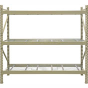 "JBX System 800 Boltless Wide-Span Shelving - 96""Wx18""Dx72""H - Galvanized Wire Decking - Starter Unit"