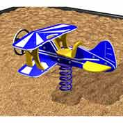 Bi-Plane Spring Rider In Blue/Yellow/White Combination, For Ages 2-5