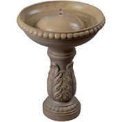 "Kenroy Lighting, Acanthus Birdbath Fountain, 50020SS, Stone Finish, Resin, 16.5""L"