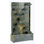 "Kenroy Lighting, Watercross Floor Fountain, 50375SL, Natural Green Slate Finish, Slate, 6""L"