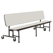 8 foot Convertible Uniframe Bench - White Nebula