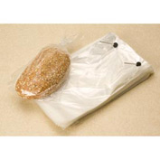 "Clear Wicketed Bread Bags 1.25 mil, 4"" Bottom Gusset, 12X19+4BG, 1000 per Case, Clear"