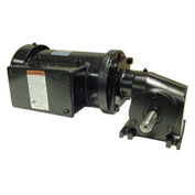 Leeson Motors Gearmotor-Right-Angle Shaft, 83RPM, 3/8HP, TEFC, /208-230V, AC