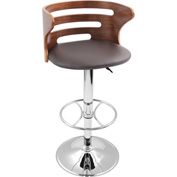 Lumisource Cosi Bar Stool - Leatherette - Brown