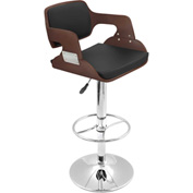 Lumisource Fiore Bar Stool - Leatherette - Cherry