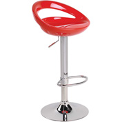 Lumisource Swizzle Bar Stool - Resin - Red