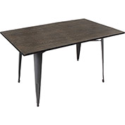 "Lumisource Oregon Dining Table 59"" x 36""36""L x 59""W x 30-1/4""H Espresso"