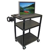 Luxor LE40 - 2 Shelf A/V Cart - 32x24x40-1/2