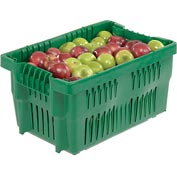 "LEWISBins Stack-N-Nest Agricultural Container AF2014-11, 20-1/2"" x 13-11/16"" x 10-13/16"",  Green - Pkg Qty 6"