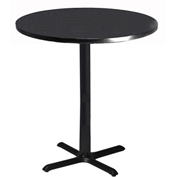 "Mayline® Bistro Series 36"" Round Bar Height Table Anthracite with Black Base"