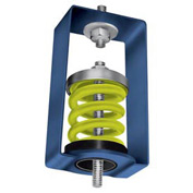 "Spring Vibration Isolation Hanger - 2-1/2""L x 2-7/8""W x 4-1/4""H Yellow"
