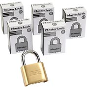 Master Lock® Bottom Resettable Combination Padlocks - No. 175 - Pkg Qty 6