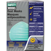 50-Pack Dust And Pollen Masks, Safety Works 10028560