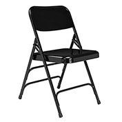 Steel Folding Chair - Premium with Triple Brace - Black - Pkg Qty 4