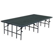 """Portable Stage with Carpet - 96""""L x 48""""W x 24""""H - Grey"""