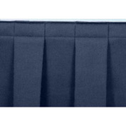 "4'L Box-Pleat Skirting for 16""H Stage - Blue"
