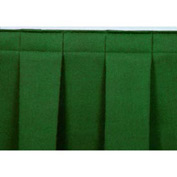 "4'L Box-Pleat Skirting for 8""H Stage - Green"