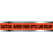 "Detectable Underground Warning Tape - Caution Buried Fiber Optic Line - 2""W"