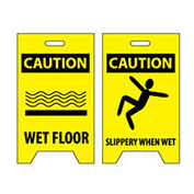 Floor Sign - Caution Wet Floor Caution Slippery When Wet