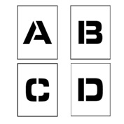 "Individual Character Stencil 4"" - Letter Set A-Z"