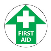 Walk On Floor Sign - First Aid