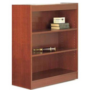 "48"" Laminate Bookcase, Cherry w/Steel Reinforced 1"" Shelves"