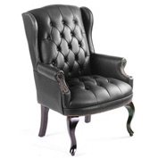 Boss Wingback Traditional Guest Chair - Black