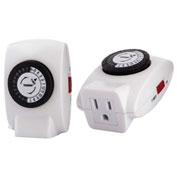 NSI 402B 24 Hr. Mechanical Timer, 125Vac, 15A, Grounded, Indoor Use, 30 min. Tabs
