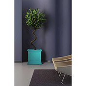 "Oxford 20"" Square Commercial Planter, Ocean Blue"