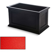 Oxford 20x36 Rectangle Commercial Planter, Poppy Red