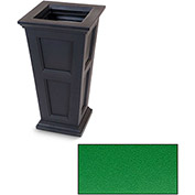 "Oxford 28"" Tall Commercial Planter, Spring Green"
