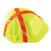 High Visibility Regular Brim Hard Hat Cover, Hi-Viz Yellow, 12 Pack - Pkg Qty 12