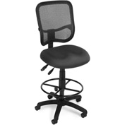 OFM Ergonomic Mesh Task Stool with Drafting Kit (Footstool) - Gray