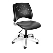 OFM Stars Vinyl Swivel Chair, Charcoal