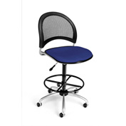 OFM Fabric Swivel Stool with Drafting Kit (Footstool) - Moon Pattern - Royal Blue