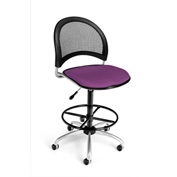 OFM Fabric Swivel Stool with Drafting Kit (Footstool) - Moon Pattern - Plum