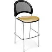 Moon Cafe Height Chair-Chrome Base-Golden Flax - Pkg Qty 2