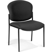 OFM Stacking Chair - Fabric - Black