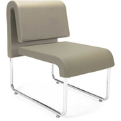 Uno Lounge Chair - Taupe Leatherette Back & Seat - Pkg Qty 2