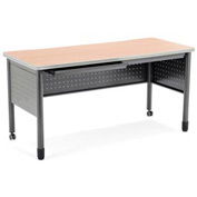 "OFM Steel Desk with Pencil Drawer - 25-1/2""D x 55""W - Maple - Mesa Series"