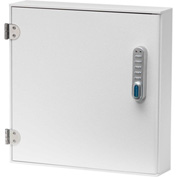 "Omnimed® Large Patient E-Lock Security Wall Cabinet, 1 Fixed Shelf, 16""W x 4""D x 16 1/4""H"