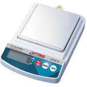"Optima Compact Precision Balance Stainless Steel Pan 2500g x 1g 5-11/16"" x 5-11/16"""