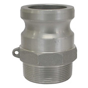 "1-1/4"" Aluminum Camlock Fitting - Male Coupler x MPT Thread"