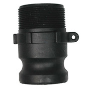 "1-1/2"" Polypropylene Camlock Fitting - Male Coupler x MPT Thread"
