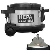 Pullman-Holt HEPA Canister Vacuum w/Power Brush 1.5 HP 4 Gallon 390ASB