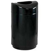 "Open Top Receptacle, Black, 30 gal., 20""Dia x 35.5""H"